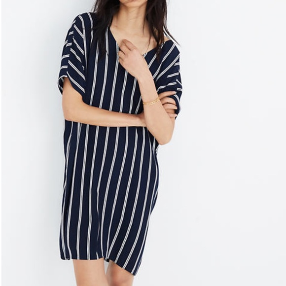 Madewell Dresses & Skirts - MADEWELL striped plaza dress loose fit shift S M